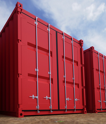 DT self store, Martock, Containers